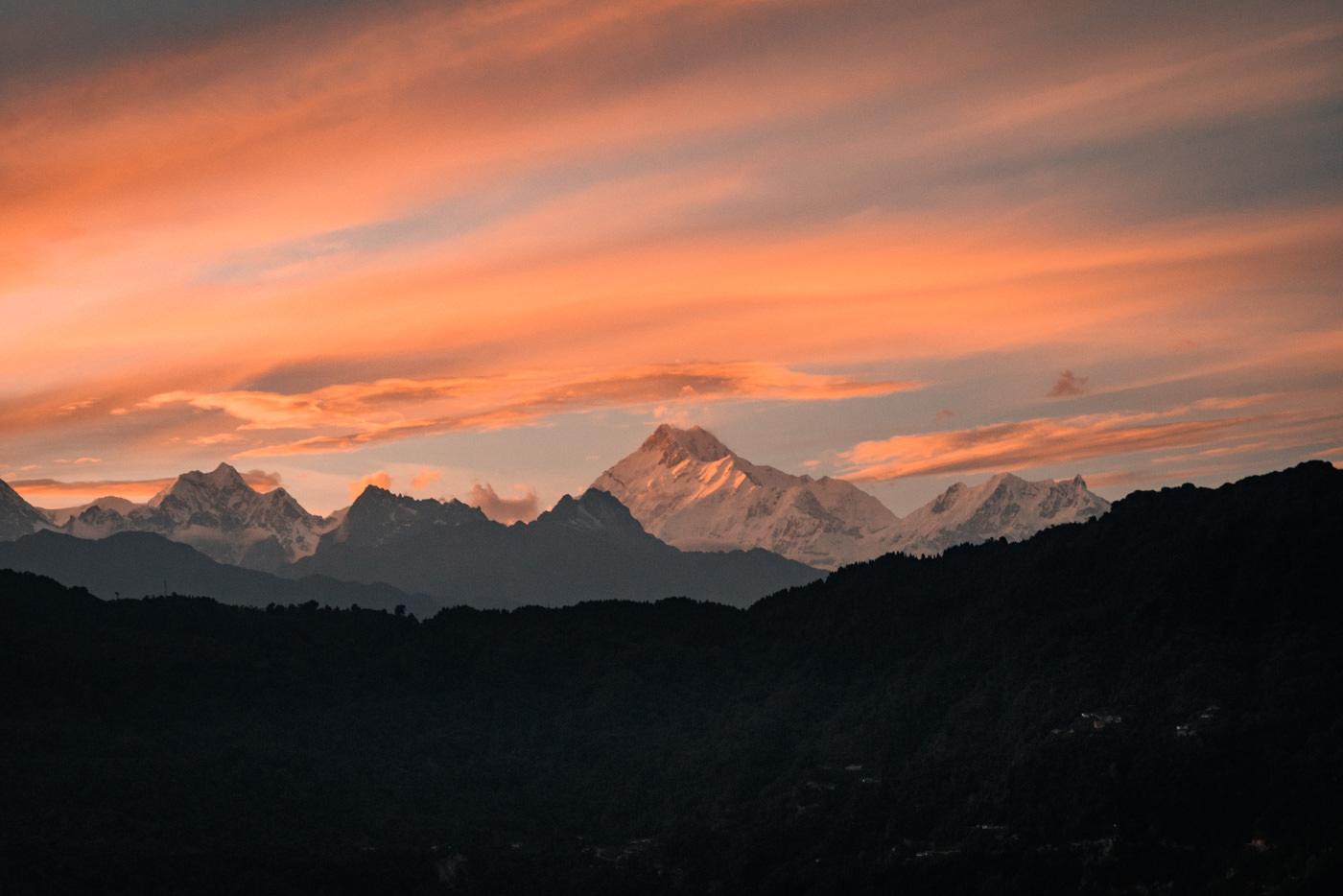 Blick auf den Kangchendzoenga im Himalaya