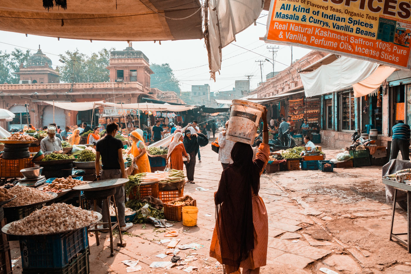 Markttreiben in Jodhpur, Indien