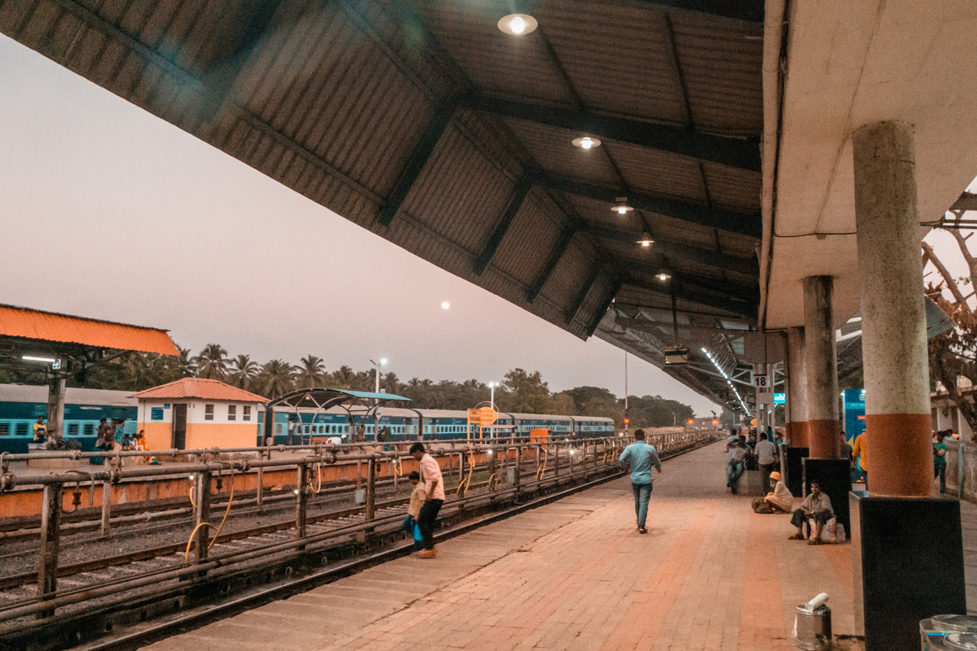 Bahnhof von Margao in Goa
