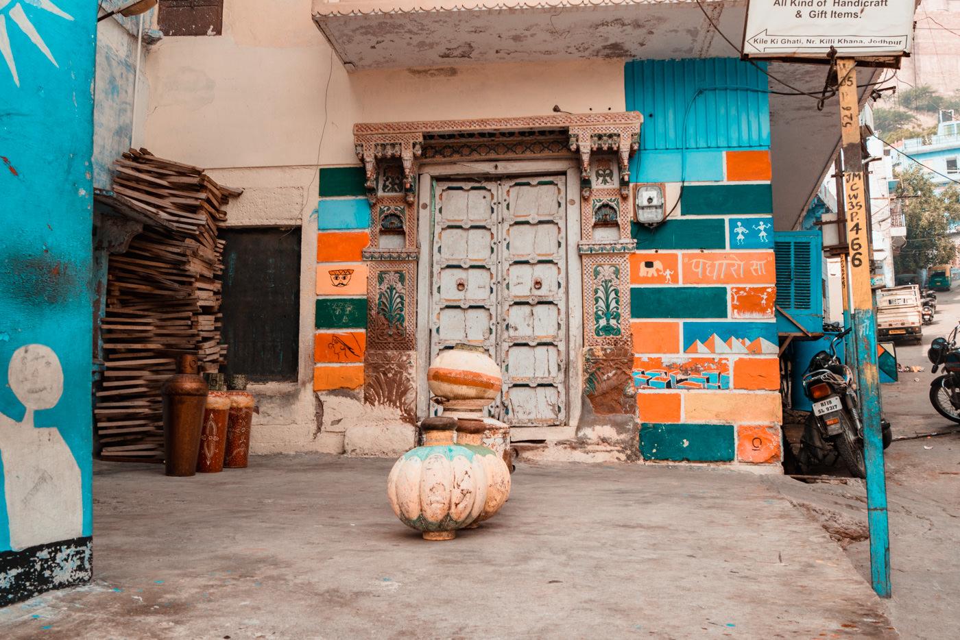 Wandbemalung in Jodhpur